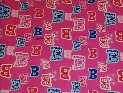 2 Yards Barbie All Star Cotton Fabric #5741 Mattel 2003 Springs Pink 46quot; Wide $21.99
