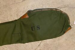 WW2 Reproduction US M1 Garand Fleece Lined Canvas Carrying Case Shade #3 or #7 $35.00