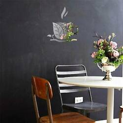 3D Cup Mirror DIY Wall Stickers Removable Decal Mural Room Home Art Modern Decor $8.26