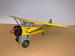 Vintage T360 Battery Operated Tin Toy AIRPLANE Made in Japan $145.00