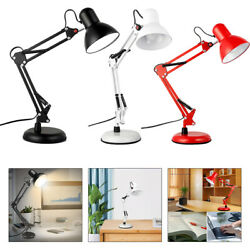 LED Desk Lamp Metal Swing Arm w Clamp Table Light Adjustable Lamps $60.93