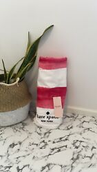KATE SPADE NEW YORK LARGE PINK amp; WHITE BEACH TOWEL 100% COTTON 40quot;X70quot; BRAND NWT $19.99