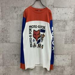 Vintage MOTO X FOX Motocross Jersey Red Blue White Used $218.55