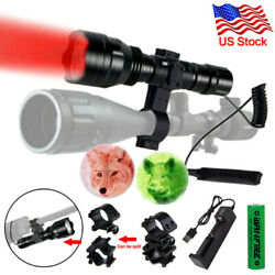 Tactical Combo Red Green Flashlight Hunting Lamp Barrel Scope Laser Mount Switch $22.99