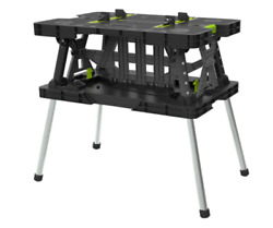 Folding Work Bench Table Meter Saw Stand with Mini Clamp 1000 lbs Capacity $111.90
