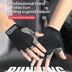 Outdoor Half Finger Bicycle Gloves Cycling Gloves Bodybuilding Riding Gloves C $5.86