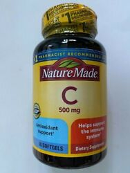 Nature Made Vitamin C 500 mg 60 softgels Helps Support the Immune System #x27;22 $12.99