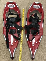Redfeather Snowshoes Red 25quot; EXCELLENT CONDITION USED FEW TIMES SHIPS SAME DAY $70.00