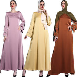 2021 Eid Islmaic Long Maxi Dress Jilbab Muslim Kaftan Abaya Party Gown Turkish $54.79