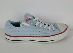 Converse CT All Star Womens Ox Sneaker Shoes Blue 547294f Low Top Lace Up Sz 8 $29.99