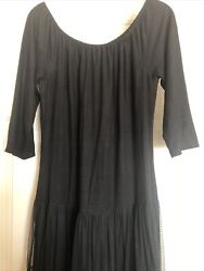 VINTAGE COLLECTION JEWELRY DRESS BLACK MAXI SIZE XL 3 4 WITH LENGTH SLEEVES