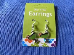 Fun Novelty Green Cocktail Margarita Dangle Earrings  $7.00