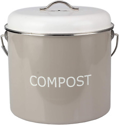 COMPOST BIN COUNTERTOP – 0.8 gallon 3 liter Compost Bucket for Kitchen with L $33.11