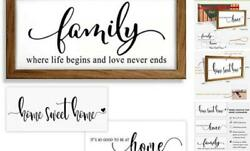 Rustic Home Family Wall Decor Sign Farmhouse Living Room Wall Decor Bedroom $25.14