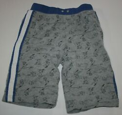 Used Hanna Andersson Boys 12 year 150cm Shorts Snoopy Woodstock Pull On Knit $12.50