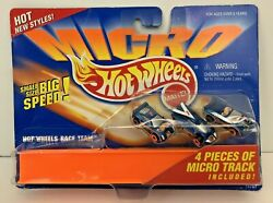 Hot Wheels Micro Race Team and 4 Pieces of Micro Track 1995 NIP $17.99