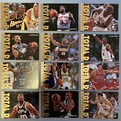 1995 96 Fleer Total D SET 12 of 12 incl. Jordan Shaq Pippen Rodman $30.00