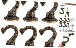 6 Pieces Ceiling Hooks Heavy Duty Swag Hook Hanging Plants Chandeliers Bronze $23.68