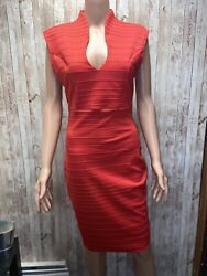 Privy Sexy Red Cocktail Dress Size L $12.00