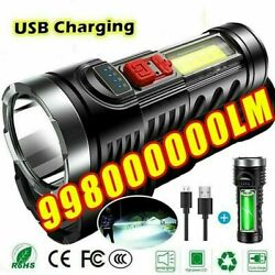 10000000LM Super Bright Torch Powerful LED Flashlight USB Rechargeable Light New $9.99