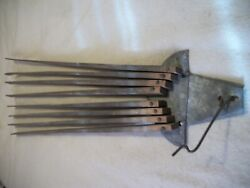 ANTIQUE VINTAGE WOOD WALL MOUNT 8 ARM CLOTHES HANGING DRYING RACK 26quot; $24.95