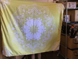 Bedsure Mandala Tapestry Wall Hanging for Bedroom Aesthetic Yellow Tapestry $8.00