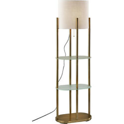 Adesso 1518 21 Norman Floor Lamp Antique Brass $200.00