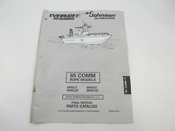 438712 OMC Evinrude Johnson Outboard Parts Catalog 65 Commercial Rope 1997