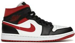 Air Jordan 1 Mid Metallic Red Gym Red Black White Toe Bred Chicago 554724 122 $130.00