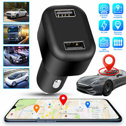 Real Time Vehicle Tracking Device Car GPS Tracker amp; Dual USB Charger Live Audio $27.98