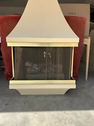 "Vintage Mid Century Montgomery Wards ""Style House"" Wall Fireplace Heater *Works* $950.00"