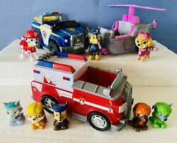Paw Patrol Lot Figures and Vehicles Chase Skye Marshall Pups Toys Set $19.99