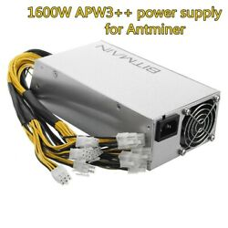 NEW APW3 1600W PSU POWER SUPPLY FOR BITMAIN ANTMINERS A3 L3 D3 S7 S9 110 220V $190.00