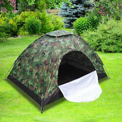Outdoor Camouflage Camping Tent Foldable Quick Shelter Hiking for 3 4 Persons $24.69