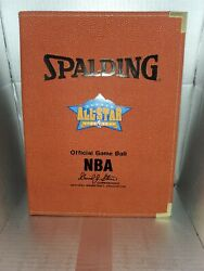Spalding Official Game Ball NBA Portfolio Folder Leather 2005 All Star Game $14.80