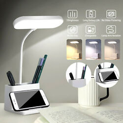 Dimmable LED Desk Lamp Table Beside Reading Light Touch Control USB Rechargeable $16.98