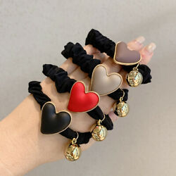 Ball Women Korean Hair Bands Scrunchies Love Heart Hair Rope Hair Accessories