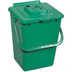 Exaco 2.4 Gal Eco Kitchen Compost Pail with Carbon Filter Green $23.61