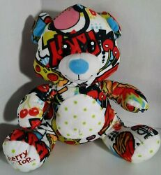 Fiesta Stuffed Plush Teddy Bear Toy Carnival Cruise Line Cherry On Top Party 14quot; $17.90