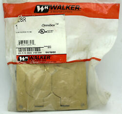 Walker Wiremold Brass Floor Box Duplex Receptable Cover Plate 828R New $32.50