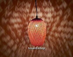 Set 2 pcs Bamboo Lamp 9.8#x27;#x27; for Ceiling hanging Living room Kitchen Lamp decor $45.00