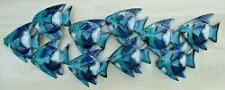 Tropical Metal Fish Scene Wall Beach Decor Patio Island Pool Sunroom Reef $39.50