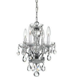 Crystorama 5534 CH CL SAQ Traditional Crystal Chandelier Polished Chrome $475.20