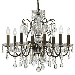 Crystorama 3028 EB CL MWP Butler Chandelier English Bronze $530.00