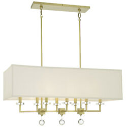 Crystorama 8109 AG Paxton Chandelier Aged Brass $1398.00