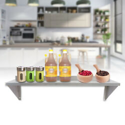 Stainless Steel Solid Wall Shelf Commercial For Kitchen Restaurant 12quot; x 36quot; New
