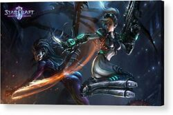 Starcraft Video game Art Print Posters Canvas Framed Wall Art $34.00