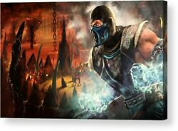 Mortal Kombat Video game Art Print Posters Canvas Framed Wall Art $34.50