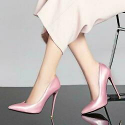 New Womens Pointed Toe High Heels Pumps Stiletto slip on Wedding Party Shoes $31.26