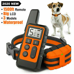 Electric Dog Shock Remote Pet Training Collar Waterproof Rechargeable 875 Yards $23.99